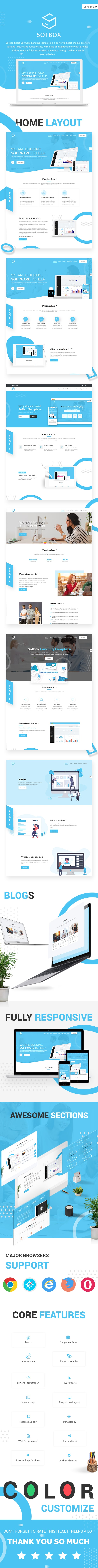 live-preview react js software landing page Sofbox livepreview