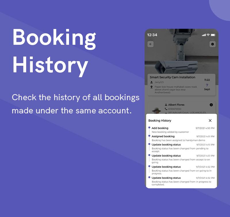 1  Handyman Service 15 Booking History