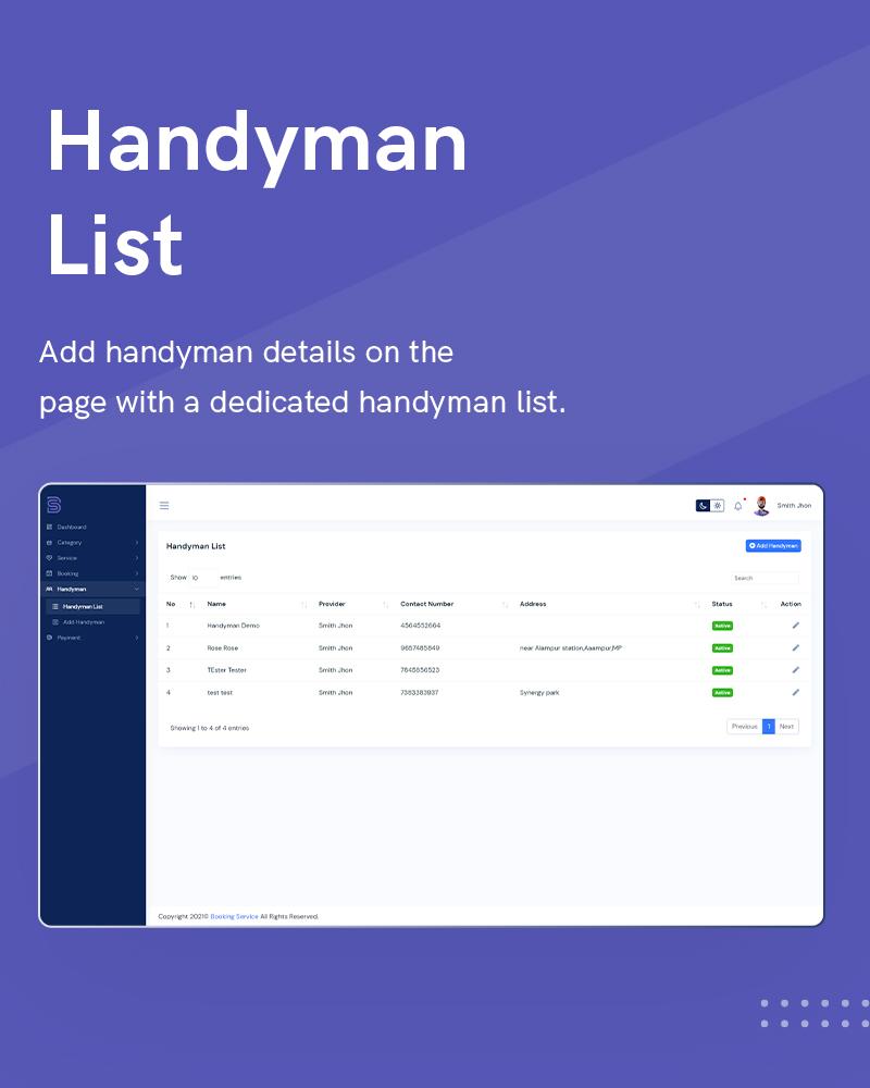 1  Handyman Service 1 Provider List1