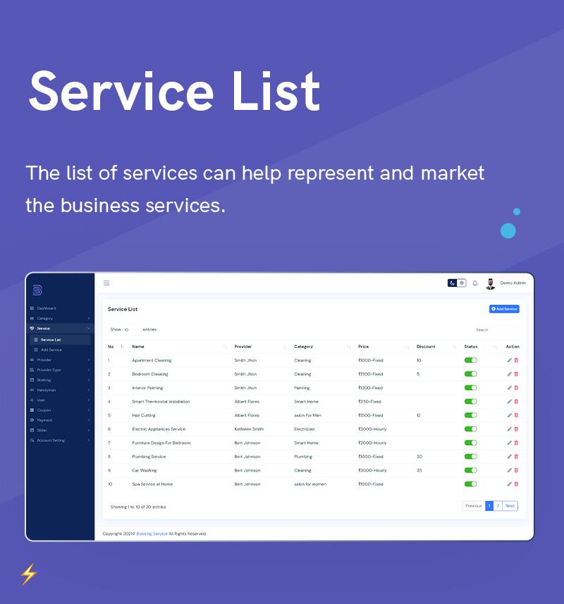 1  Handyman Service 3 Service List