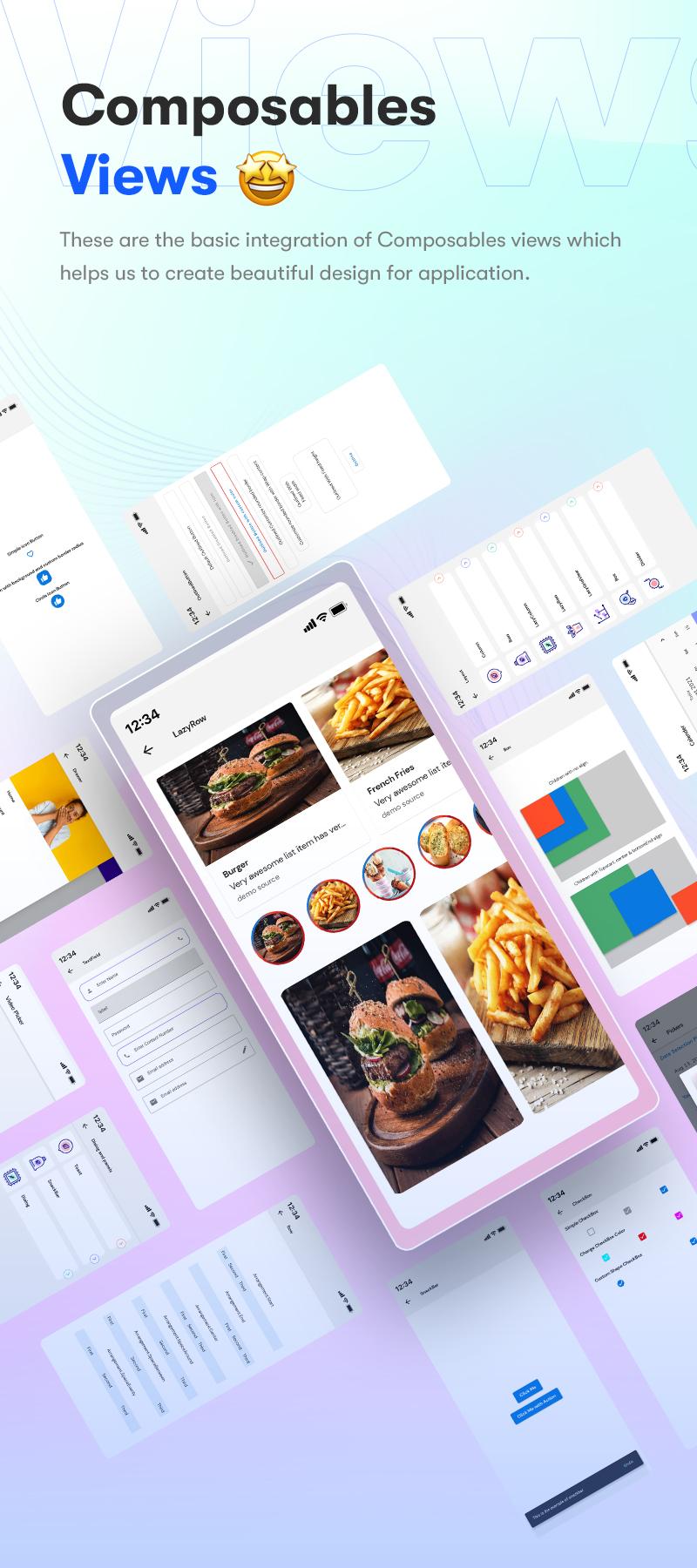 Android Jetpack Compose UI Kit | Prokit | Iqonic Design android jetpack compose ui kit Prokit 00 Views