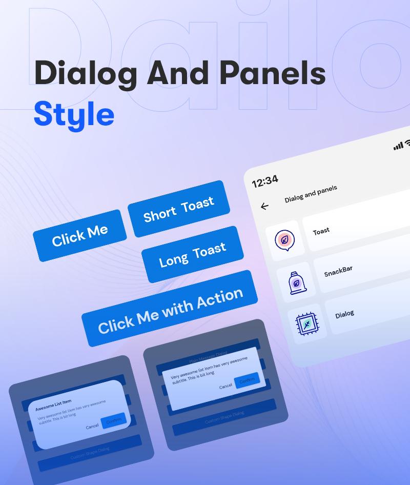 Android Jetpack Compose UI Kit | Prokit | Iqonic Design android jetpack compose ui kit Prokit 3 Dialog And Panels