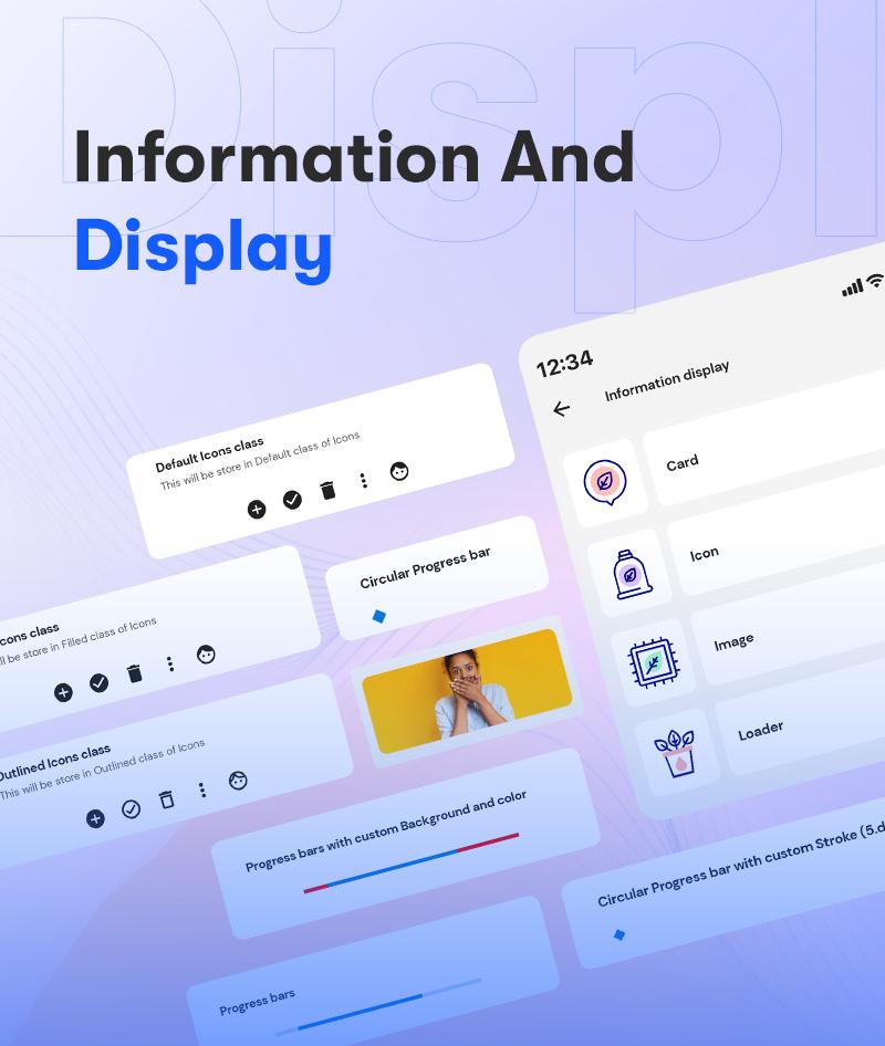 Android Jetpack Compose UI Kit | Prokit | Iqonic Design android jetpack compose ui kit Prokit 4 Information And Display
