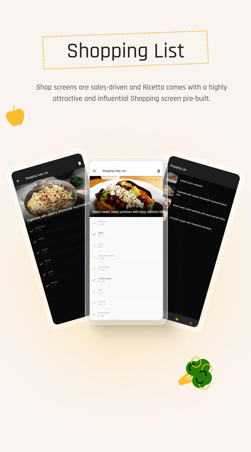 Flutter Recipe App with Laravel Backend | Ricetta | Iqonic Design flutter recipe app with laravel backend Ricetta 10