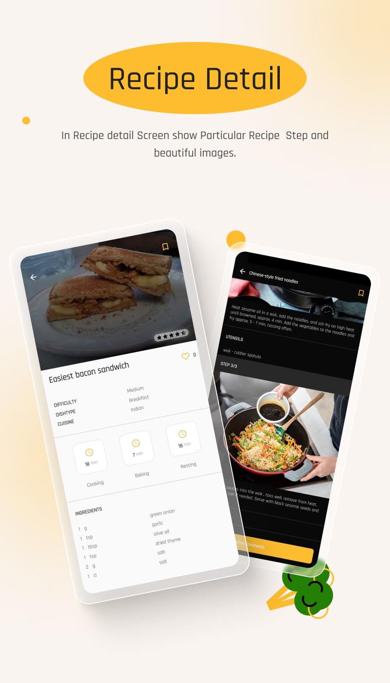 Flutter Recipe App with Laravel Backend | Ricetta | Iqonic Design flutter recipe app with laravel backend Ricetta 3