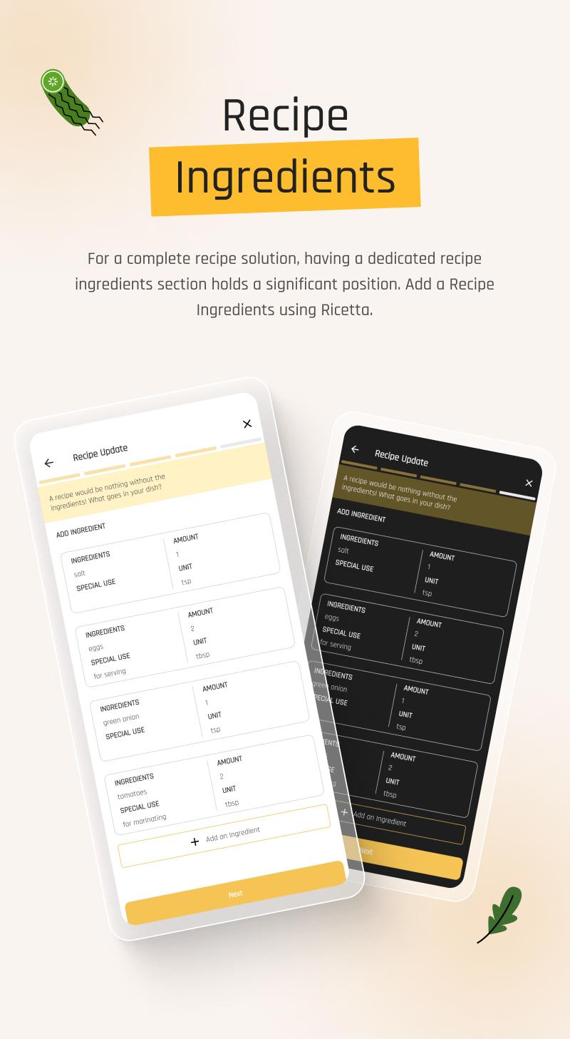 Food Recipes Flutter App | Ricetta | Iqonic Design flutter recipe app with laravel backend Ricetta 5