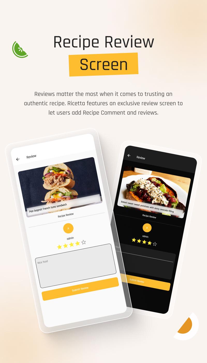 flutter recipe app | Ricetta | Iqonic Design flutter recipe app with laravel backend Ricetta 6