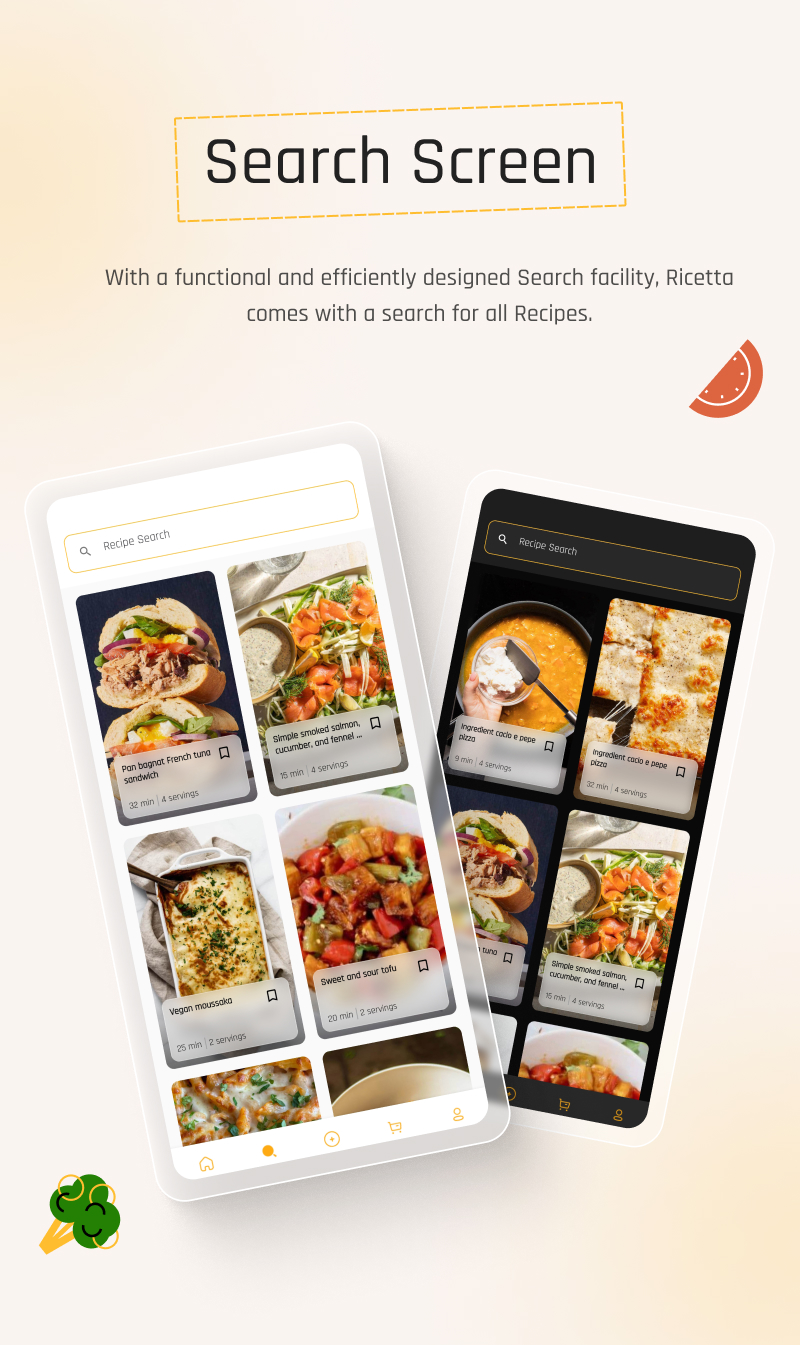 Food Recipes Flutter App | Ricetta | Iqonic Design flutter recipe app with laravel backend Ricetta 8