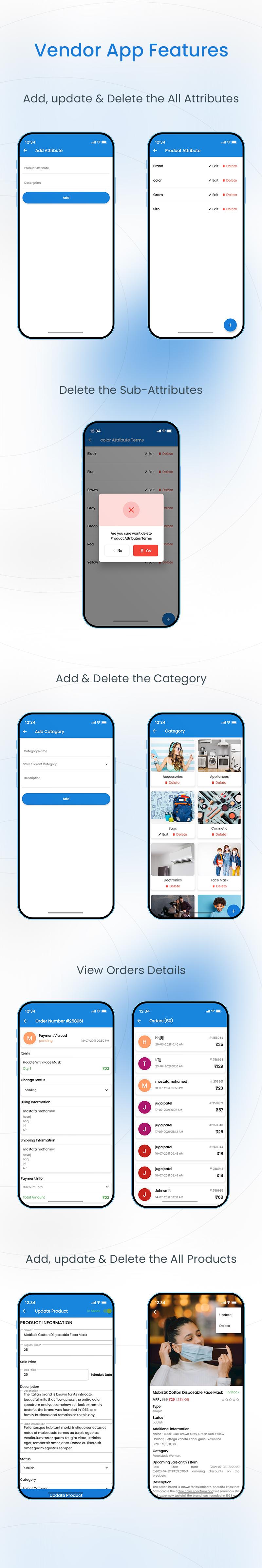 Woocommerce Admin and Dokan vendor app | Store Manager | Iqonic Design woocommerce admin and dokan vendor app Store Manager 03 vendor