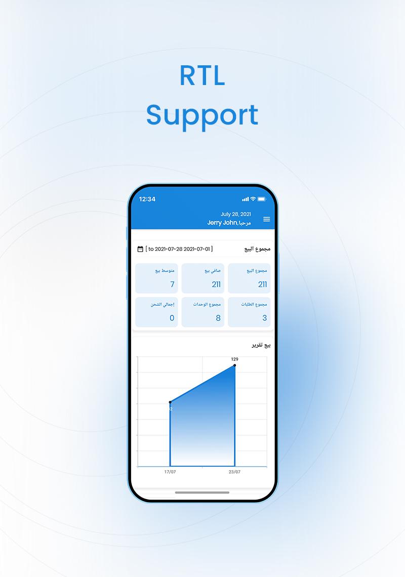 Woocommerce Admin and Dokan vendor app | Store Manager | Iqonic Design woocommerce admin and dokan vendor app Store Manager 06 RTl support