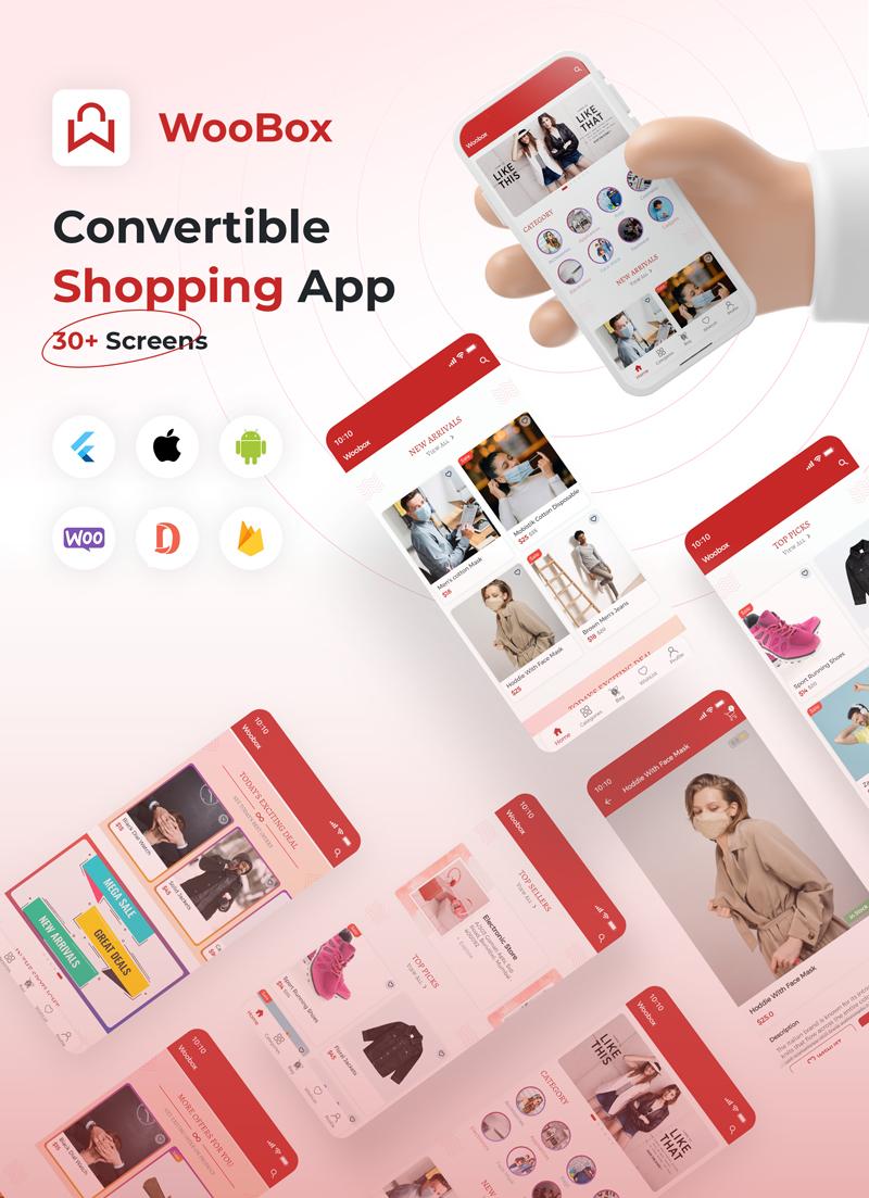 1 woocommerce flutter 2.0 e-commerce full mobile app All New WooBox 2.0 0 banner