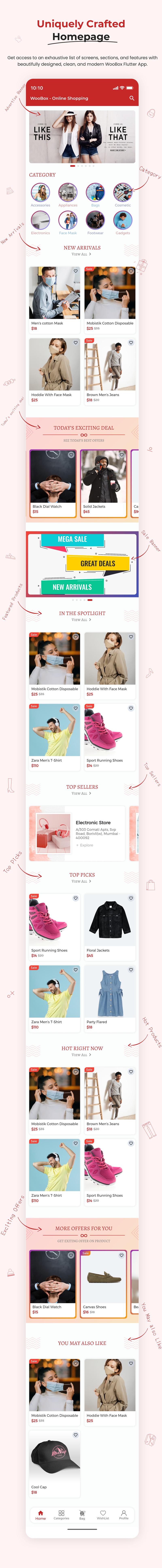 1 woocommerce flutter 2.0 e-commerce full mobile app All New WooBox 2.0 1 homepages