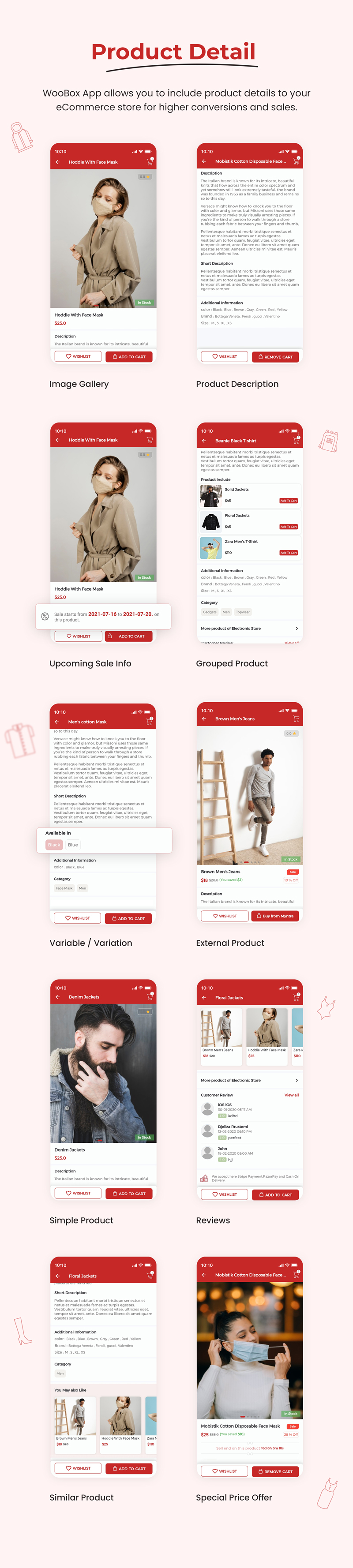 1 woocommerce flutter 2.0 e-commerce full mobile app All New WooBox 2.0 2 Product detail