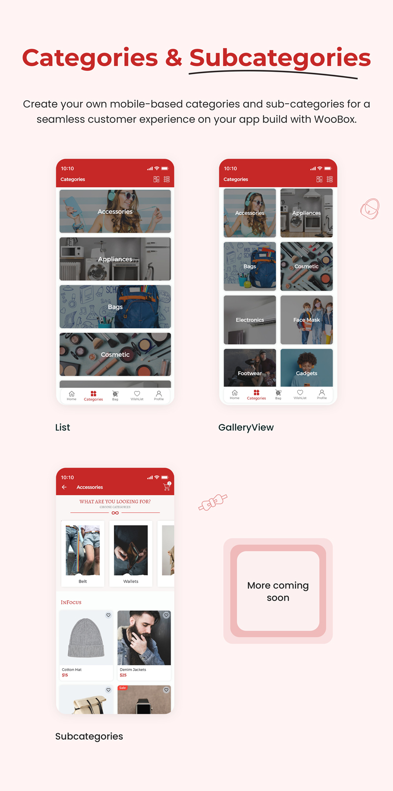 1 woocommerce flutter 2.0 e-commerce full mobile app WooBox 3 category and subcategory