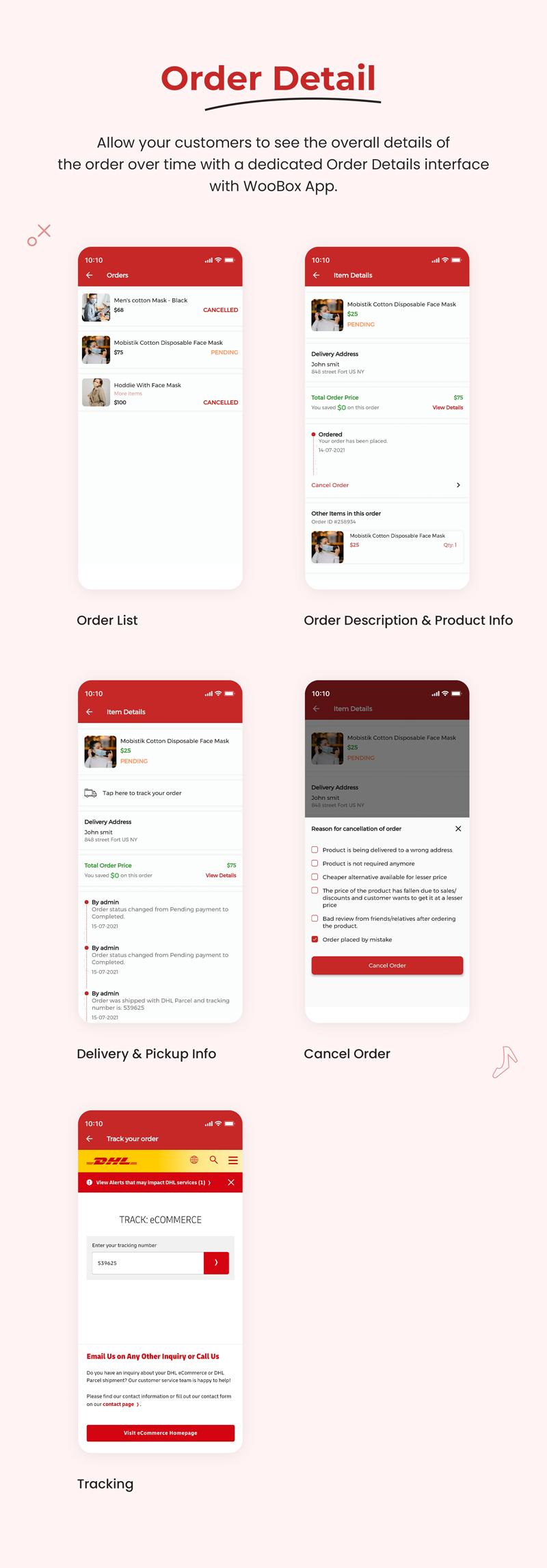 1 woocommerce flutter 2.0 e-commerce full mobile app All New WooBox 2.0 7 Order Detail