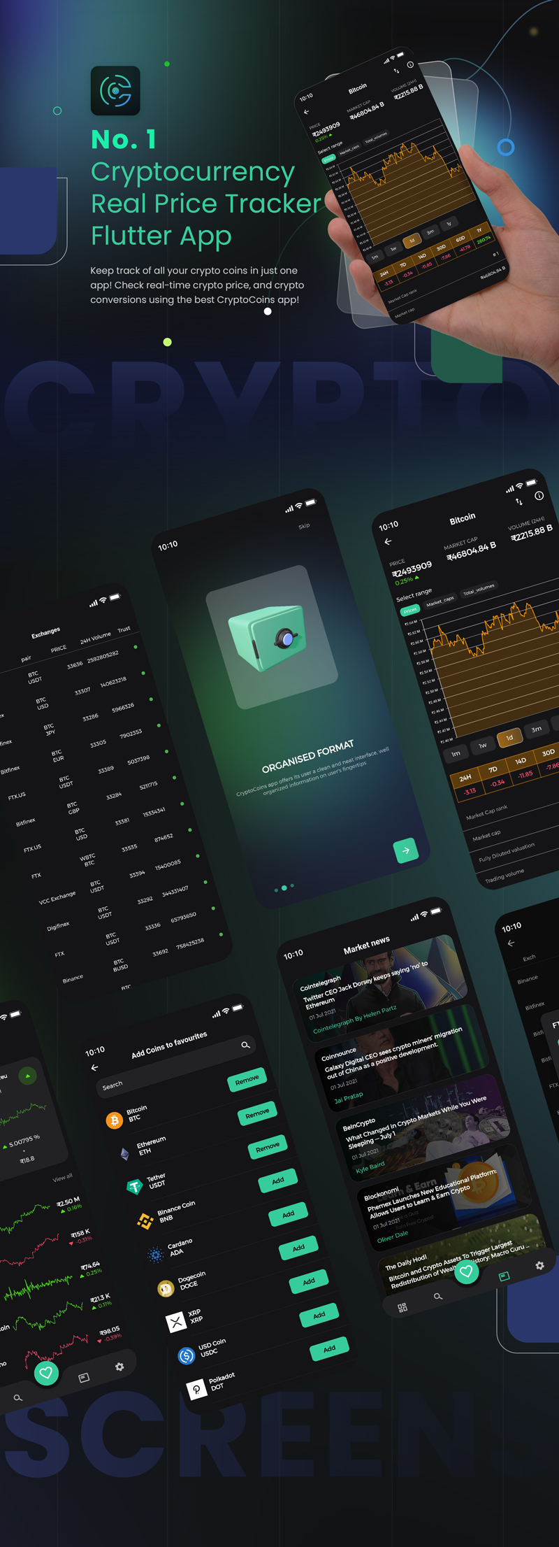 1 flutter full cryptocurrency app for live tracking CryptoCoin 00