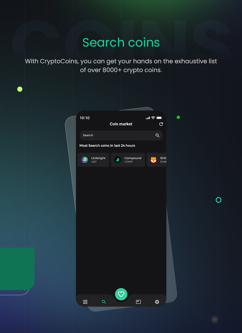 1 flutter full cryptocurrency app for live tracking CryptoCoin 04