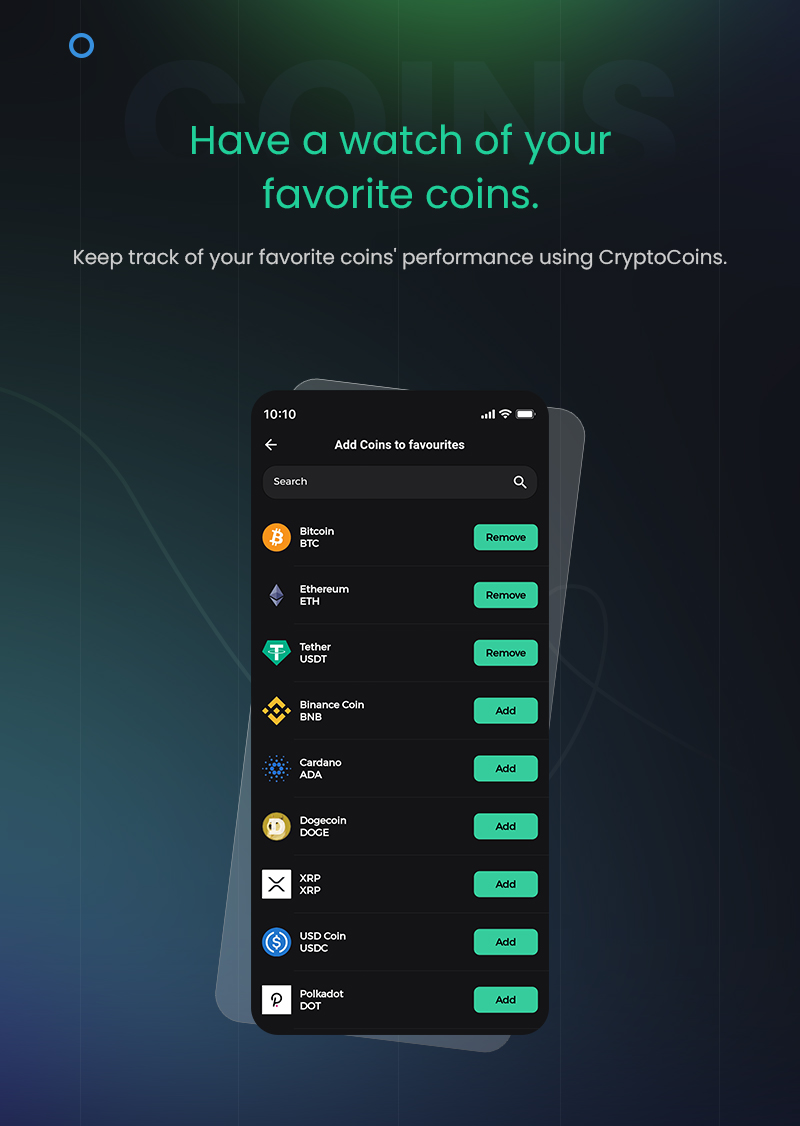1 flutter full cryptocurrency app for live tracking CryptoCoin 13