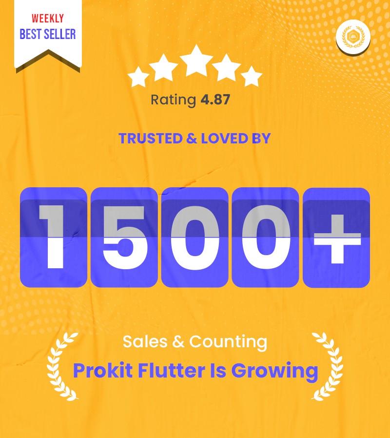 Flutter UI Kits | Prokit | Iqonic Design biggest flutter 2.0 ui kit ProKit 1