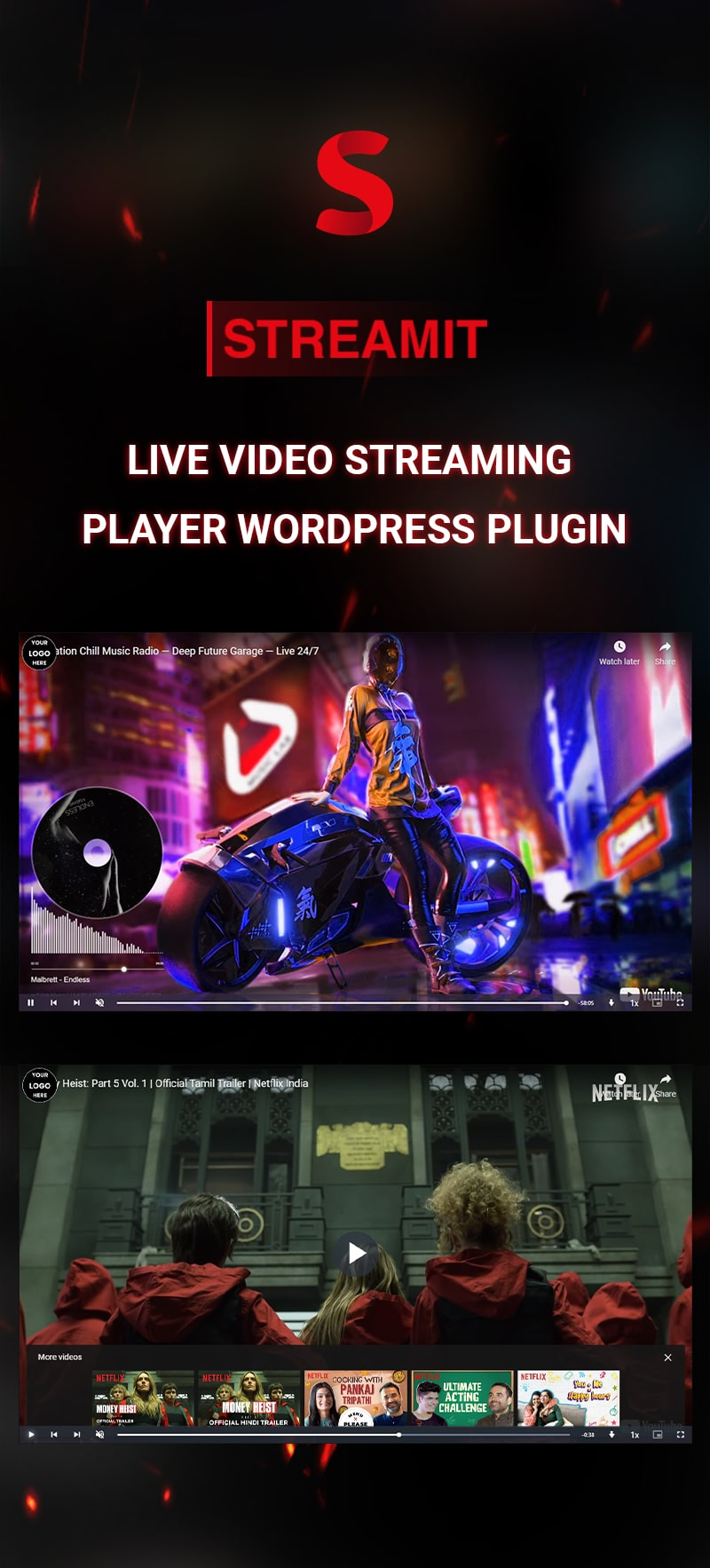 Live Video Streaming Player WordPress Plugin | Streamit | Iqonic Design live video streaming  player wordpress plugin Streamit 01 min