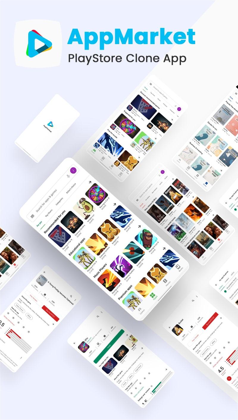 Free Google Play Store Clone Flutter UI Kit   AppMarket   Iqonic Design free google play store clone flutter ui kit AppMarket Flutter 02 app market min