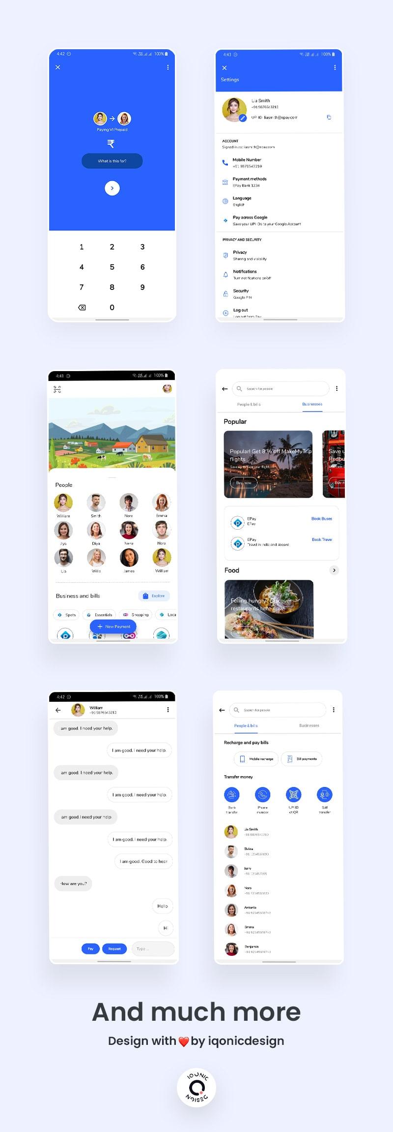 Free Google Pay Clone Flutter UI Kit | ePay | Iqonic Design free google pay clone flutter ui kit ePay Flutter 05 list epay min