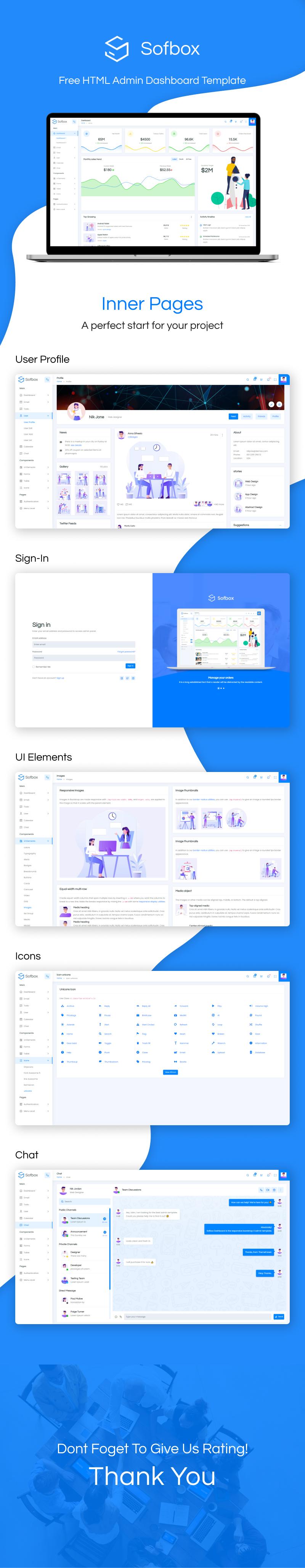 Free HTML Admin Dashboard Template | Sofbox Admin Lite | Iqonic Design free html admin dashboard template Sofbox Admin Lite Sofbox 20Long 20Preview