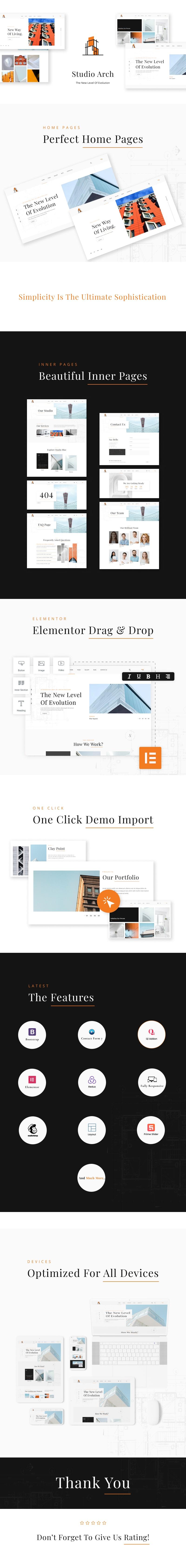 best free WordPress theme for Architects | Studio Arch | Iqonic Design best free wordpress theme for architects Studio Arch WordPress Long 20preview min