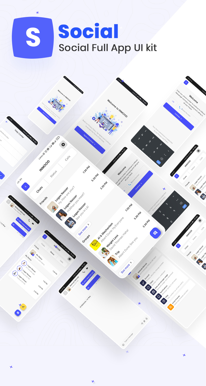 Social Full App UI Kit | Iqonic Design biggest flutter 2.0 ui kit ProKit prokit social fullapp