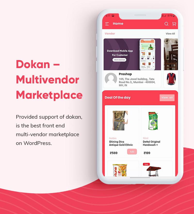 ProShop Dokan Multi Vendor - Android E-commerce Full App for Woocommerce - 10 android e-commerce full app for woocommerce ProShop Dokan Multi Vendor F13