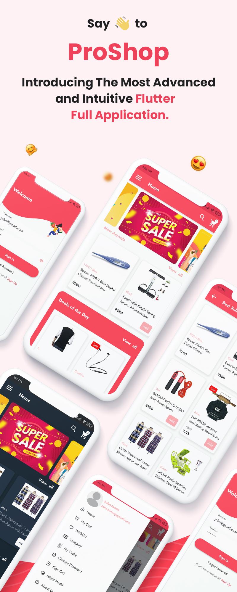 ProShop Dokan Multi Vendor - Flutter E-commerce Full App for Woocommerce - 7 flutter e-commerce full app for woocommerce ProShop Dokan Multi Vendor FlutterNew