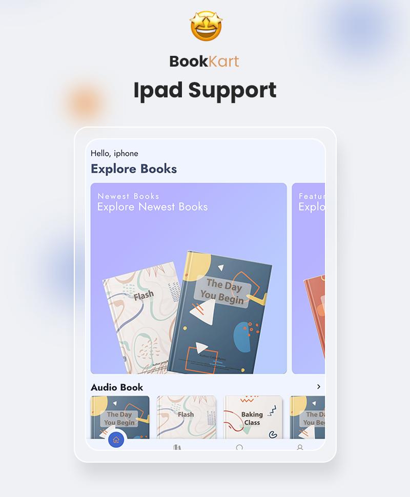Flutter Ebook Reader App For WordPress with WooCommerce | Bookkart | Iqonic Design flutter ebook reader app for wordpress with woocommerce Bookkart 12