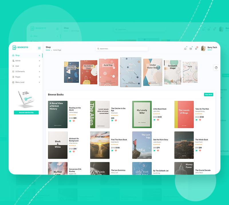 Booksto - VueJS, HTML Minimal Ebook Admin & Shop Template - 7 vuejs html minimal ebook admin and shop template Booksto n2