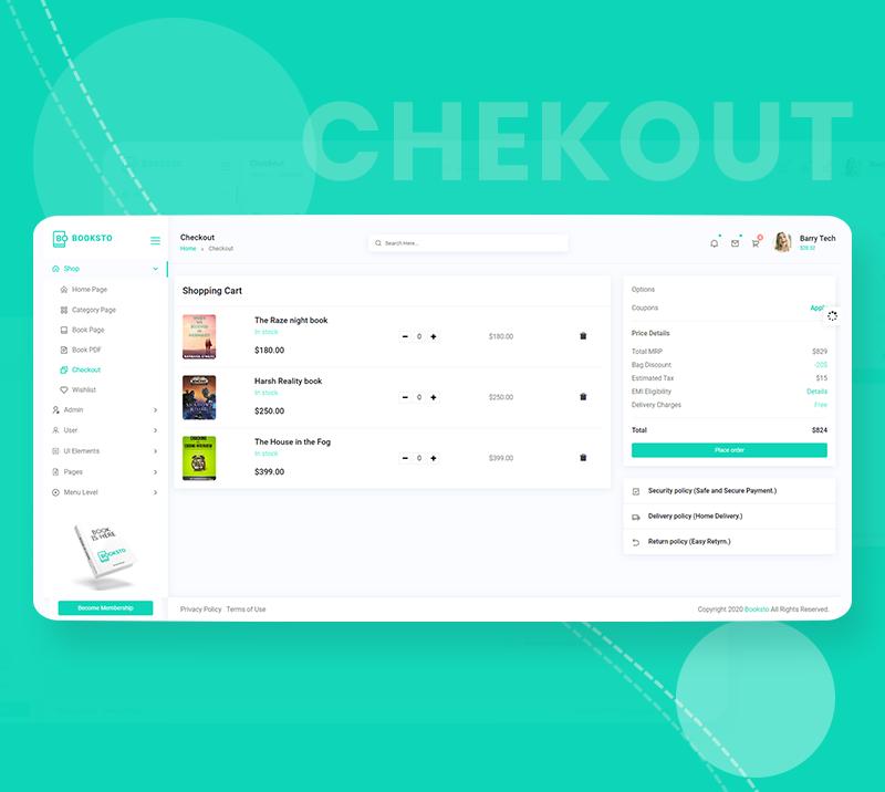 Booksto - VueJS, HTML Minimal Ebook Admin & Shop Template - 9 vuejs html minimal ebook admin and shop template Booksto n5