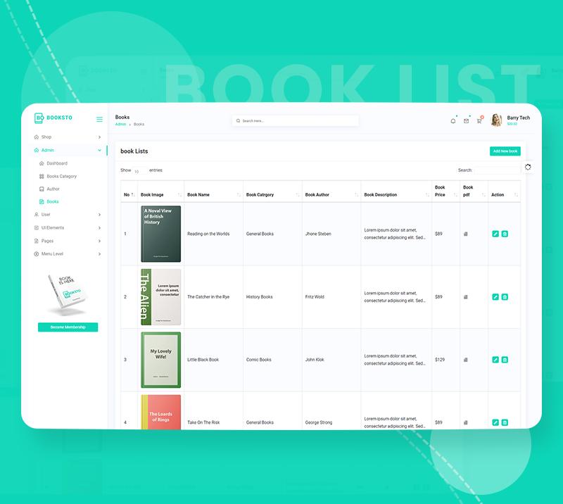 Booksto - VueJS, HTML Minimal Ebook Admin & Shop Template - 11 vuejs html minimal ebook admin and shop template Booksto n7