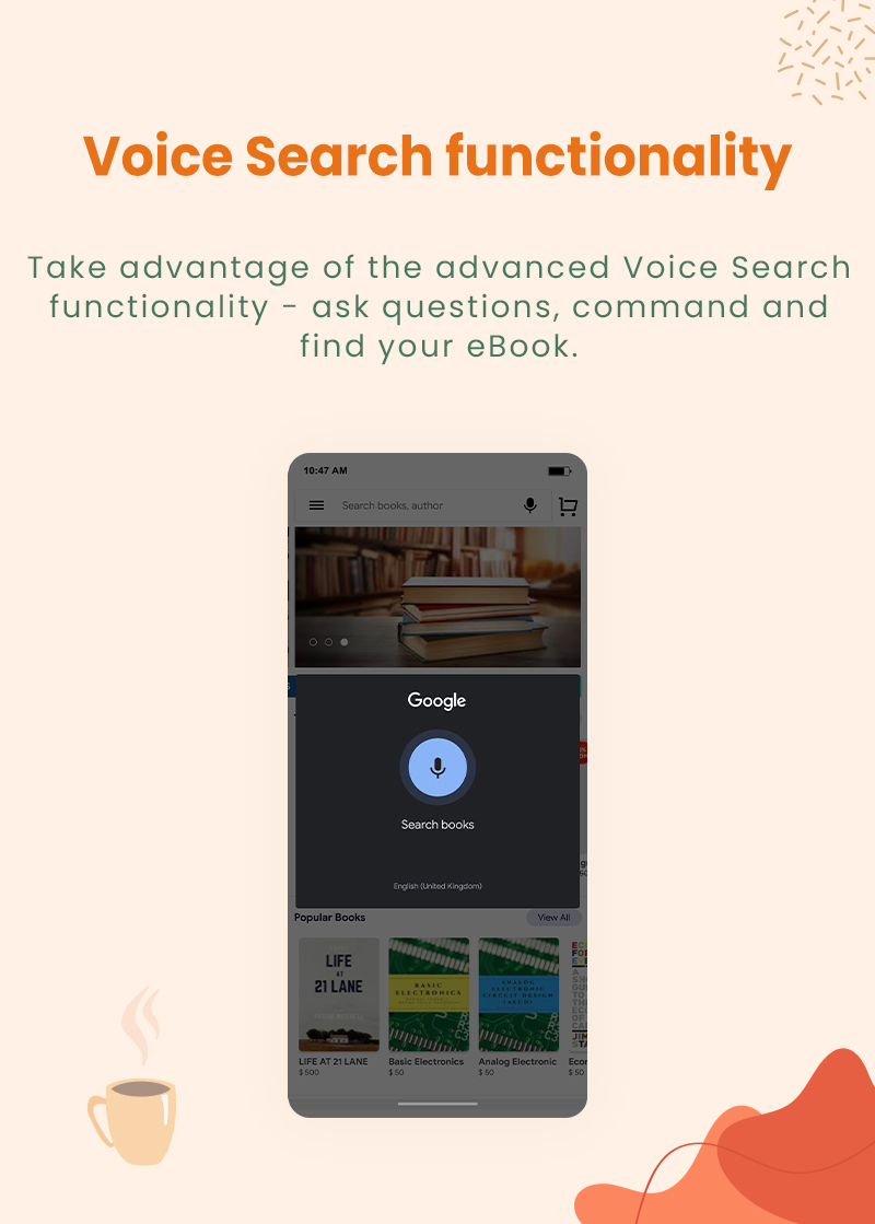 3 flutter ebook app with admin panel Granth 10 Voice Search functionality