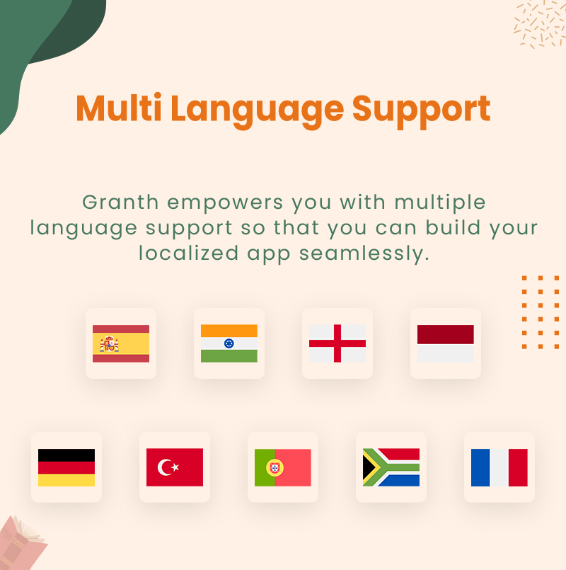 3 flutter ebook app with admin panel Granth 20 Multi language support