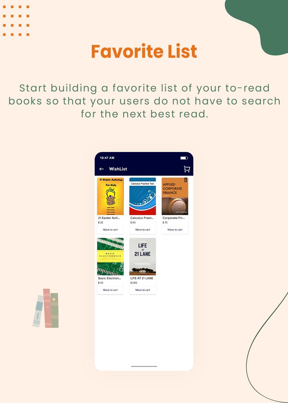 3 flutter ebook app with admin panel Granth 6 Favorite List