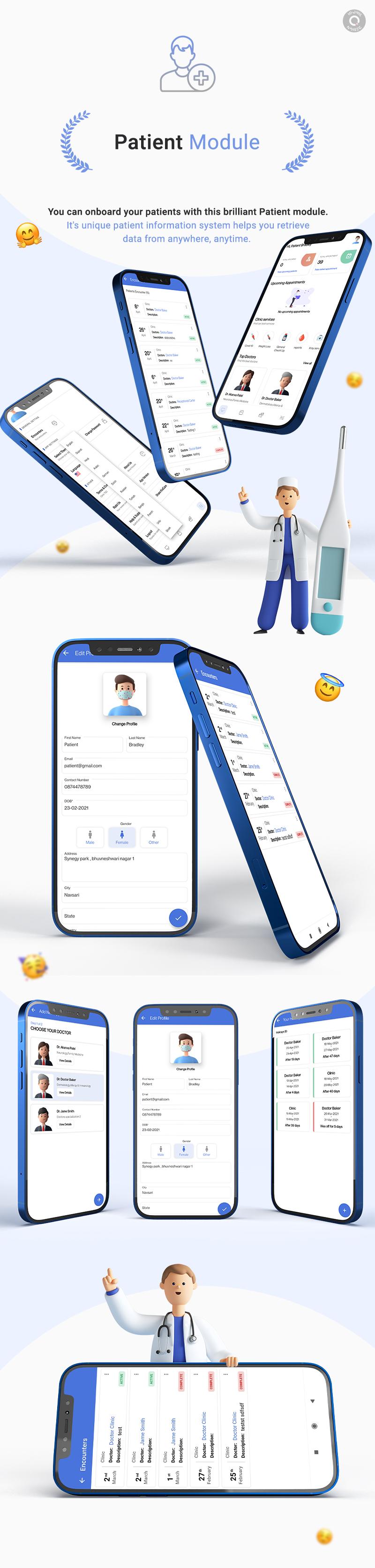 KiviCare Flutter 2.0 App – Clinic & Patient Management System - 12 clinic and patient management system KiviCare Flutter 2.0 App Patient