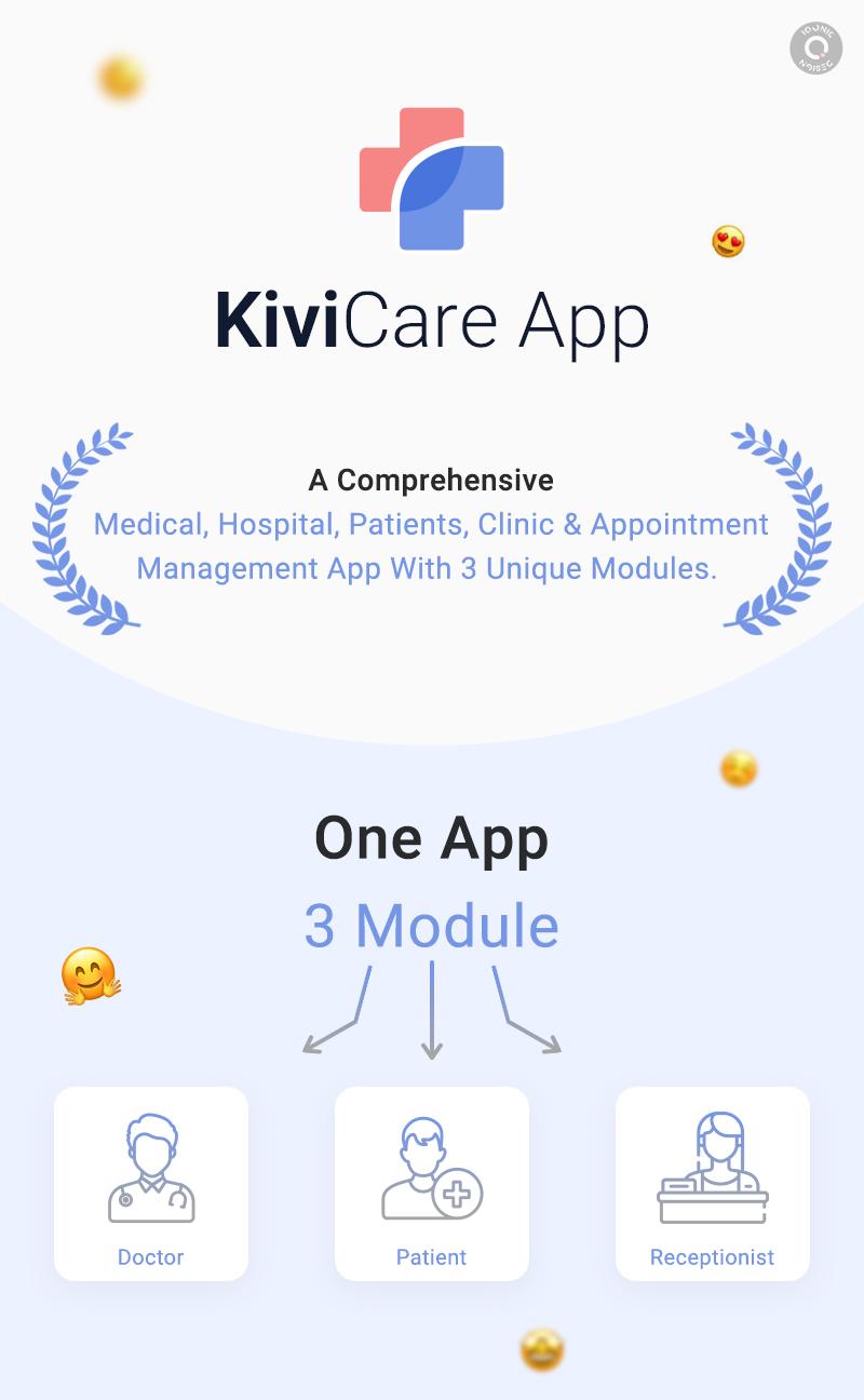 KiviCare Flutter 2.0 App – Clinic & Patient Management System - 10 clinic and patient management system KiviCare Flutter 2.0 App banner