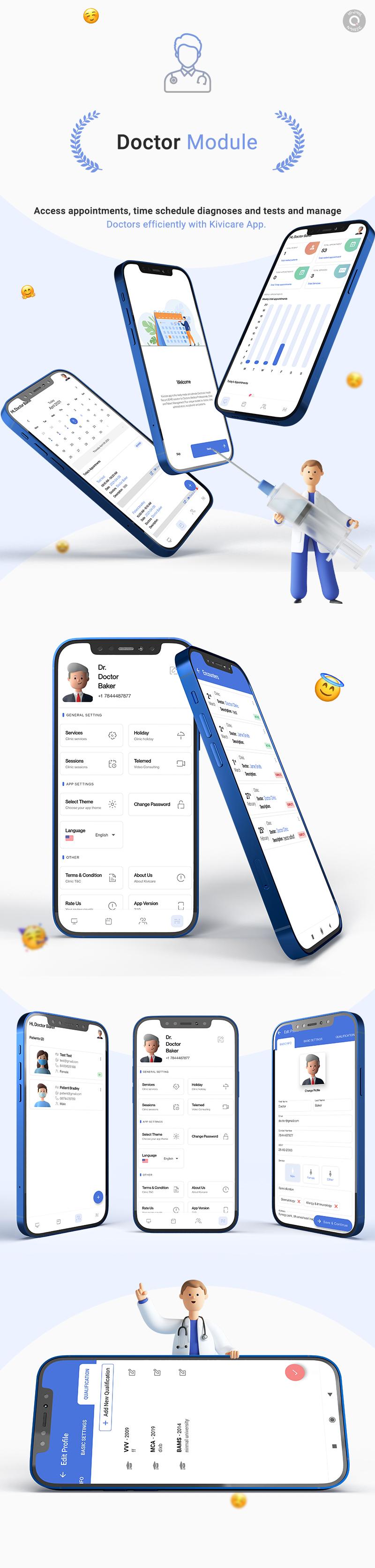 KiviCare Flutter 2.0 App – Clinic & Patient Management System - 11 clinic and patient management system KiviCare Flutter 2.0 App doctor