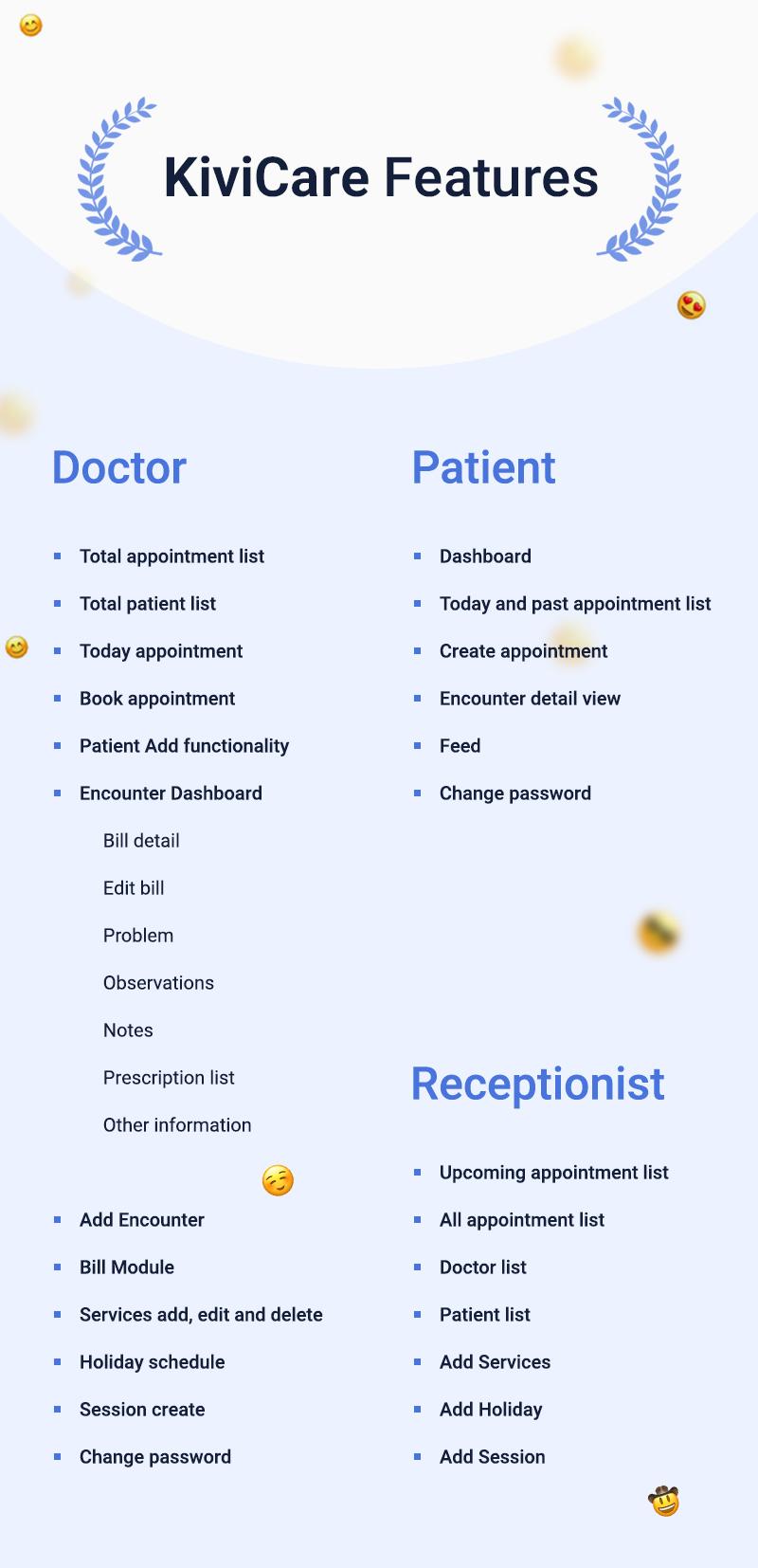 KiviCare Flutter 2.0 App – Clinic & Patient Management System - 16 clinic and patient management system KiviCare Flutter 2.0 App kivicare features