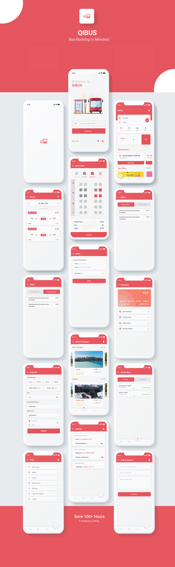 Free Bus Booking Android Kotlin App UI Template | QIBus | Iqonic Design free bus booking android kotlin app ui template QIBus qibus