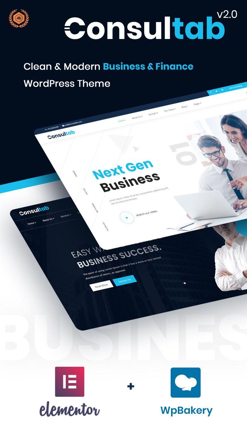 Consultab - Consulting Business & Finance WordPress Theme - 5 consulting business and finance wordpress theme Consultab n1