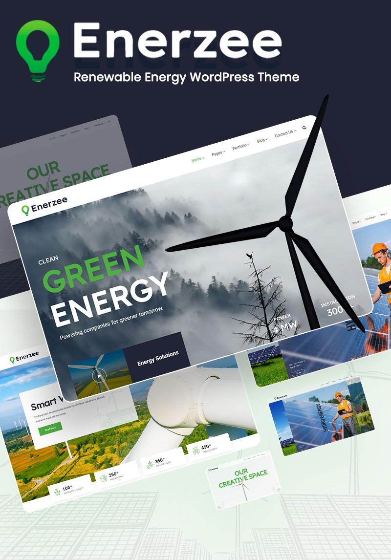 Renewable Energy WordPress Theme | Enerzee | Iqonic Design renewable energy wordpress theme Enerzee 1