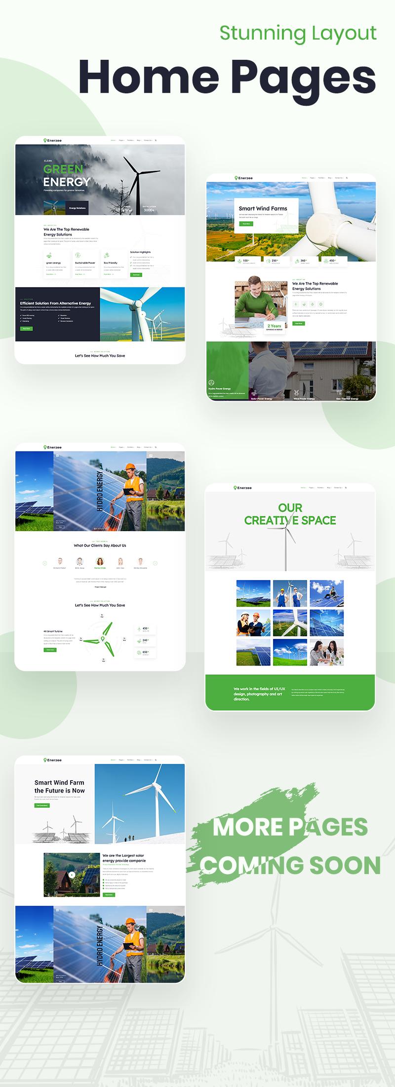 Renewable Energy WordPress Theme | Enerzee | Iqonic Design renewable energy wordpress theme Enerzee 2