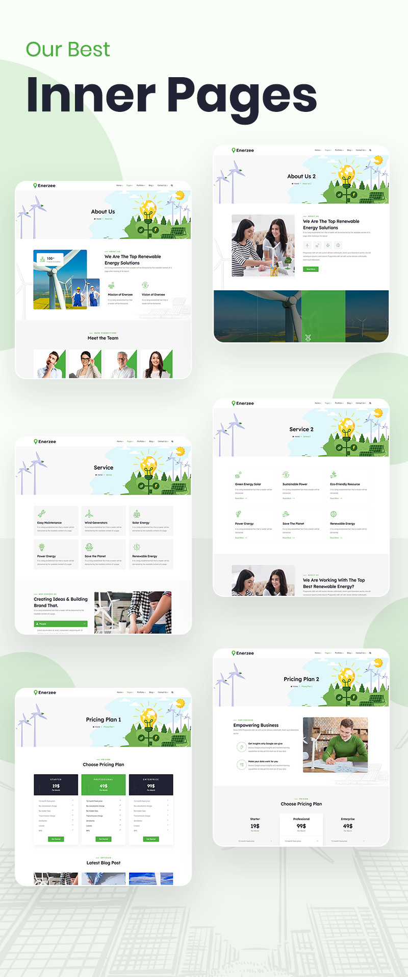 Green Energy WordPress Theme | Enerzee | Iqonic Design renewable energy wordpress theme Enerzee 3