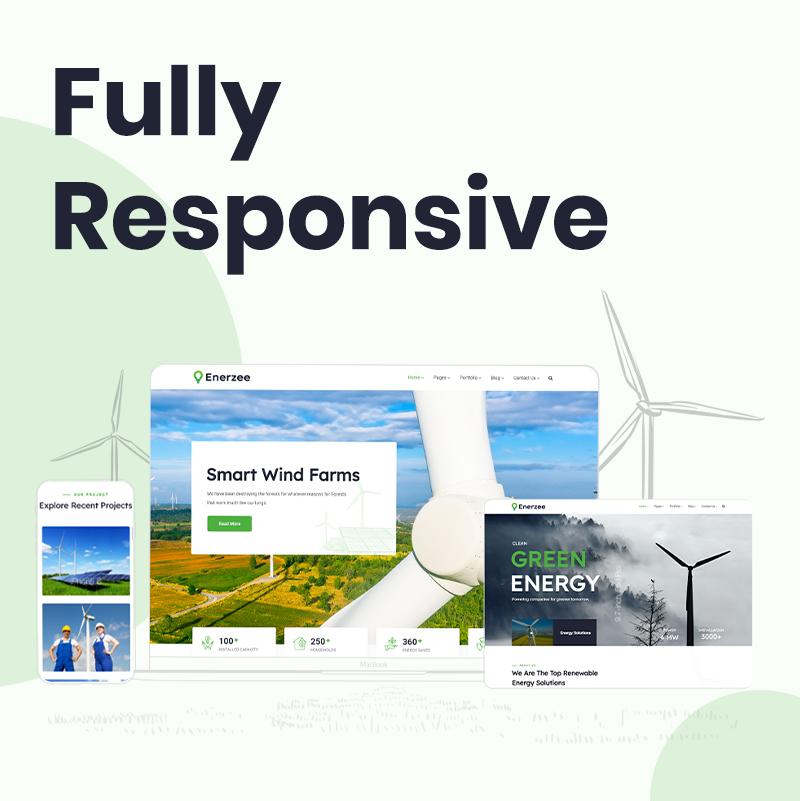 Green Energy WordPress Theme | Enerzee | Iqonic Design renewable energy wordpress theme Enerzee 5