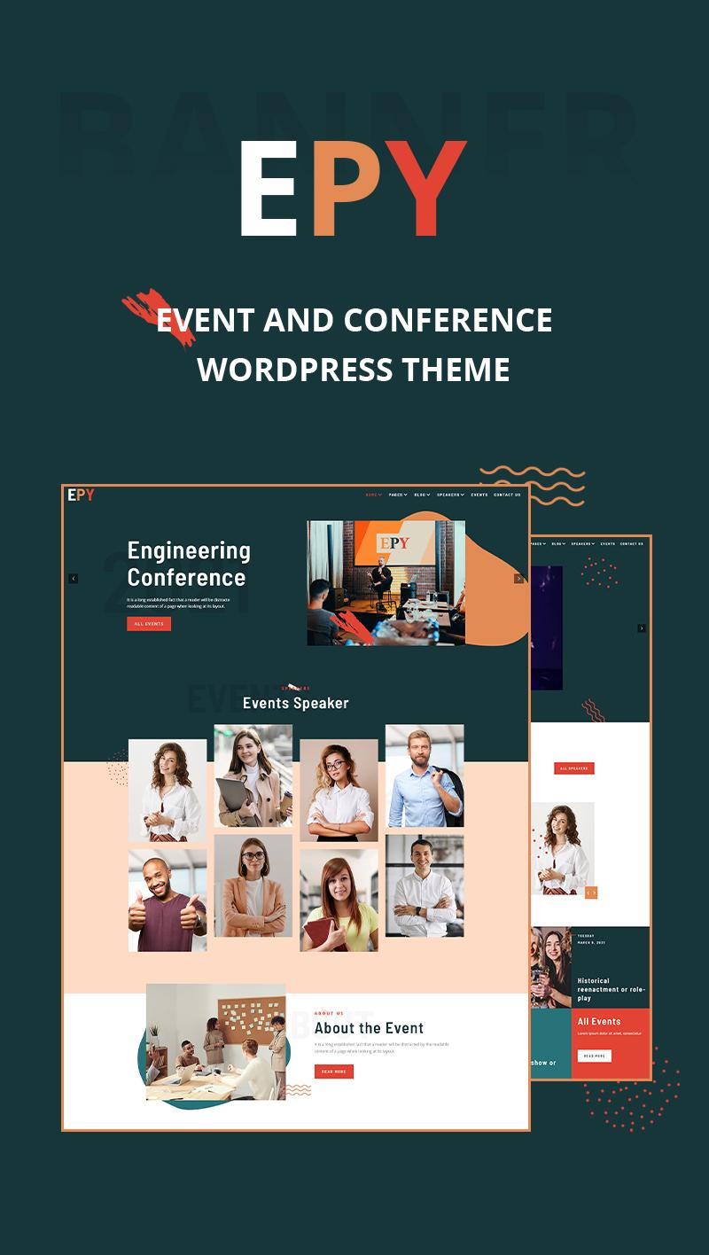 Event Conference WordPress Theme | EPY | Iqonic Design event conference wordpress theme Epy 02