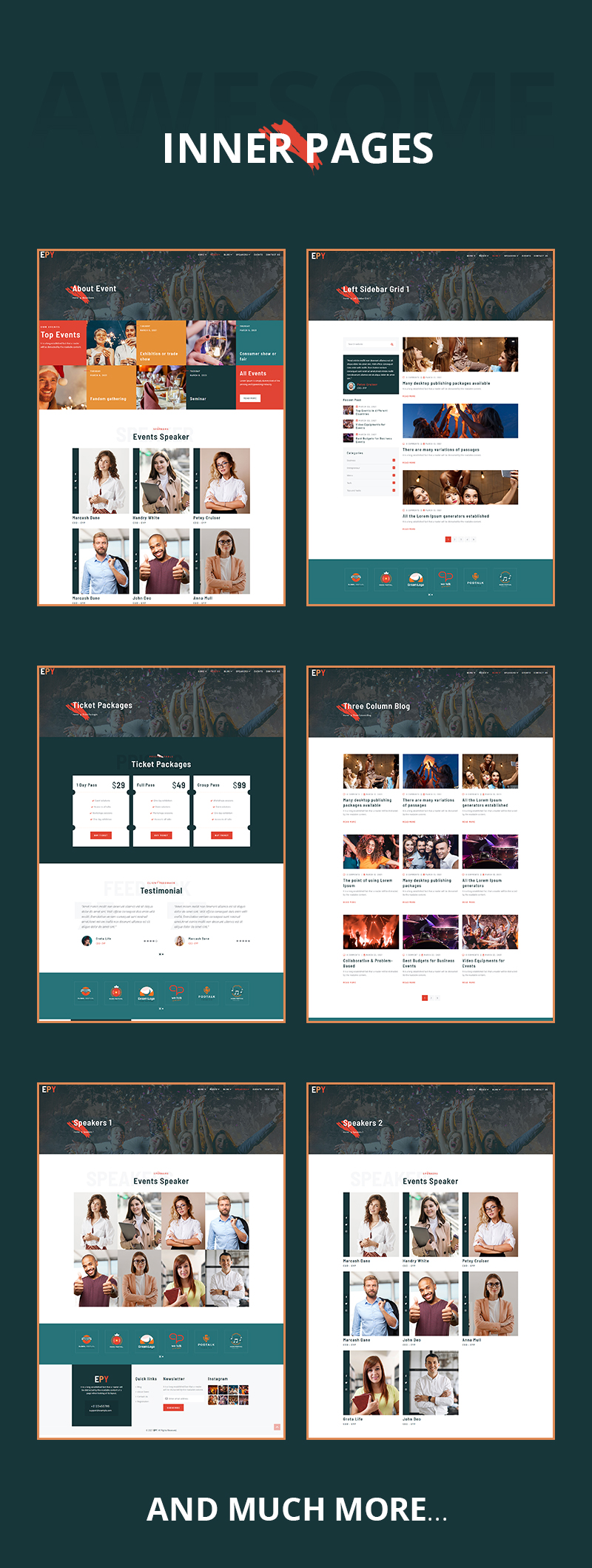 Event and Conference WordPress Theme | EPY | Iqonic Design event conference wordpress theme Epy 04